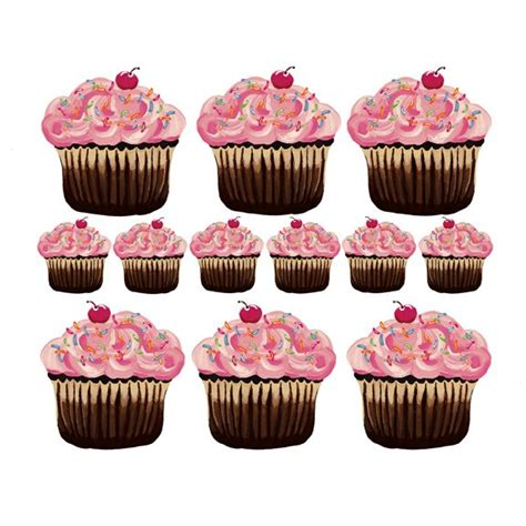 cupcake wall stickers sherri blum small pink cupcake wall stickers