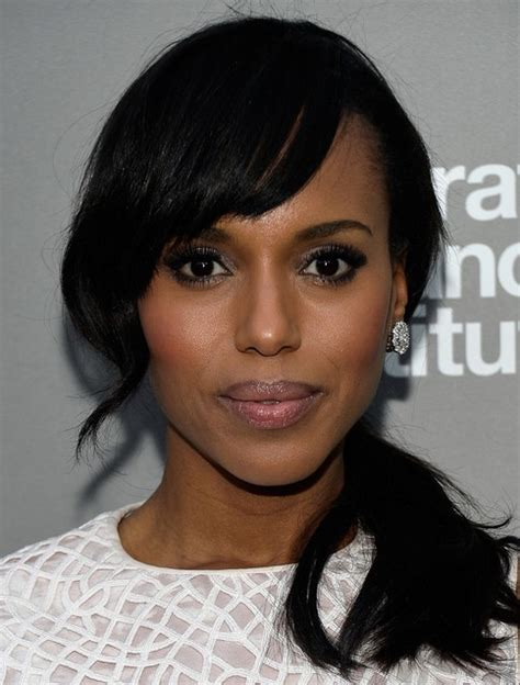 short ponytails for short african american hair kerry washington hairstyles side ponytail hairstyle for