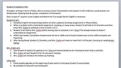 academic success plan template 28 images academic