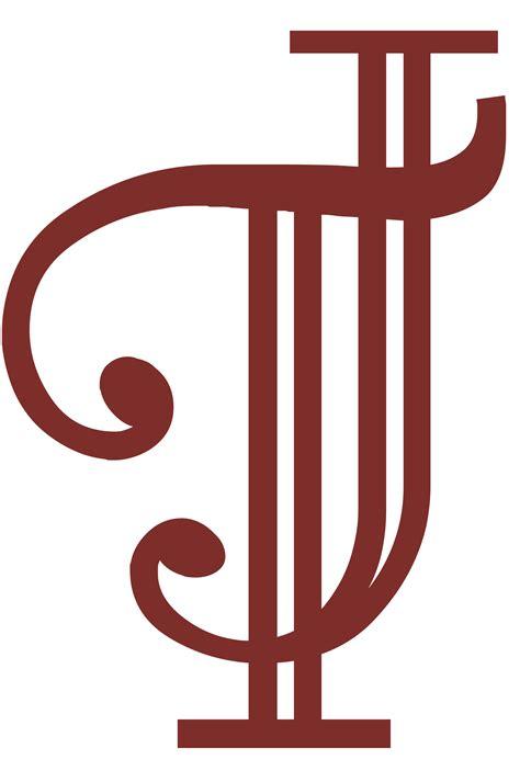 j t custom wedding monogram in burgundy initials j t