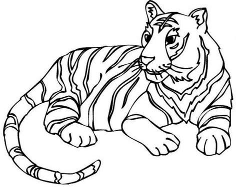 wallpaper kartun hitam gambar gambar berikut sketsa hitam putih mewarnai harimau