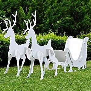 teak isle large christmas outdoor santa sleigh and 2