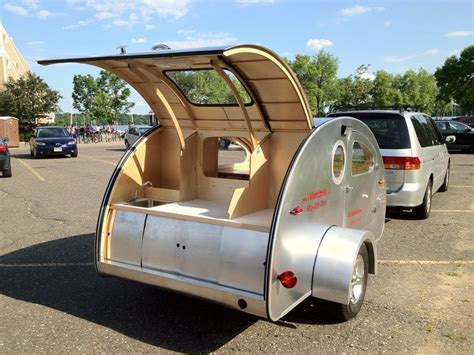 Airstream Travel Trailer Floor Plans by Tiny Yellow Teardrop Featured Teardrop Trailer Vistabule