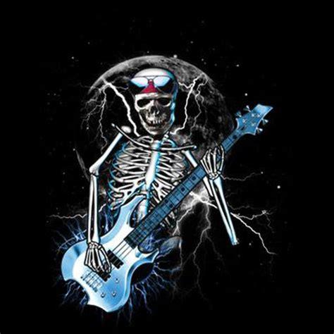 One Ok Rock Skull Tshirt Gildan t shirt custom design blue guitar skull skeleton