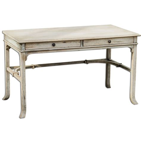 Small Writing Desk With Hutch Bridgely Aged White 30 Inch Writing Desk Uttermost Writing