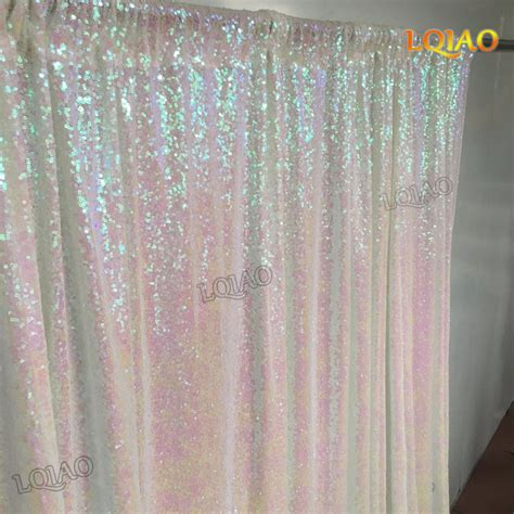 8 ft drop curtains 4ftx8ft glitter white gold sequin backdrop wedding photo
