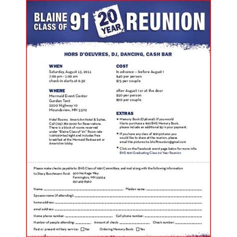 class reunion program template high school reunion flyers a selection of