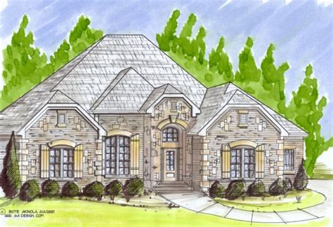 Custom French Country House Plans | spectacular french country ranch villa katie www