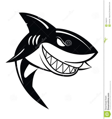 vector illustration layout shark vector illustration stock vector illustration of