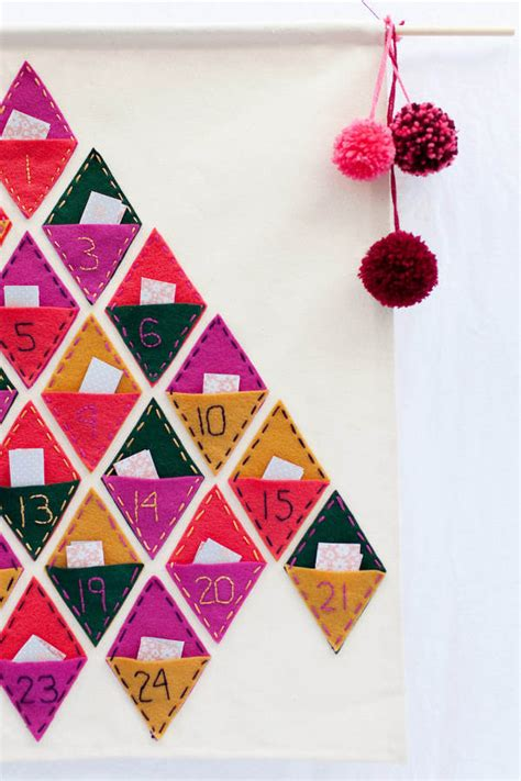 make your own felt advent calendar 11 diy advent calendars to start the countdown