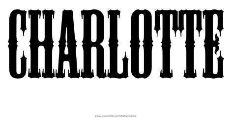 charlotte tattoo name designs