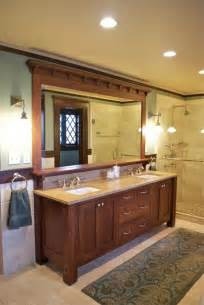 craftsman style bathroom mirrors vanity craftsman bathroom new york by carisa