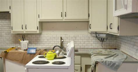 kitchen makeover diy kitchen backsplash subway tile kitchen makeover diy stone tile backplash hometalk