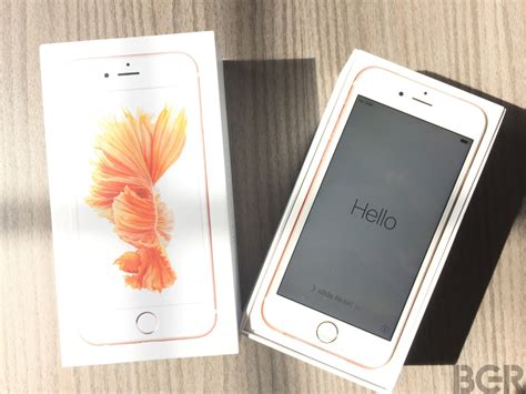 gold iphone 6s unboxing pictures bgr