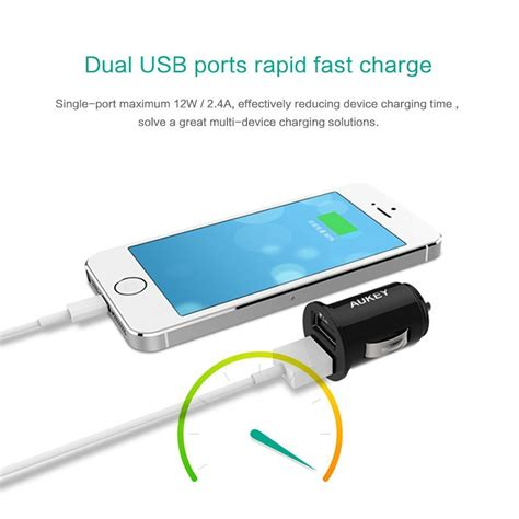 Terlaris One S1 Iphone 4 Travel Charger Adapter Usb Slot aukey usb car charger 2 port 4 8a 24w aipower cc s1 black jakartanotebook