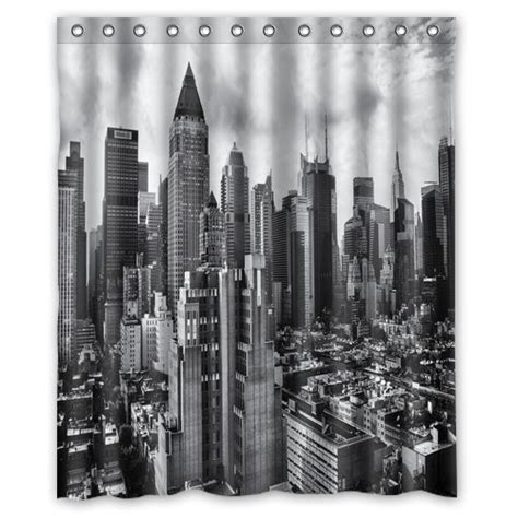 city skyline shower curtain awesome batman shower curtain designs best sellers