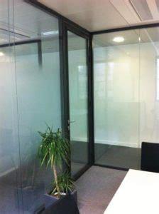 am駭agement bureaux open space sablage sur vitrage espace cloisons alu ile de