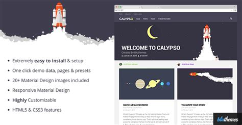 themeforest material design calypso material design wordpress theme by bluthemes