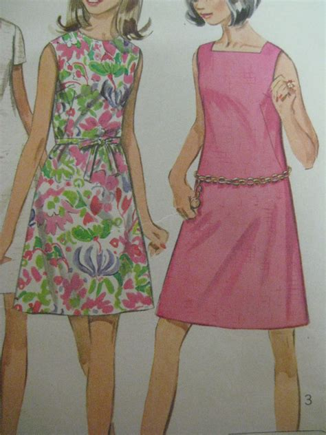 pattern a line dress vintage simplicity 7627 a line dress w fabric belt sewing