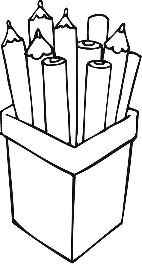 colored pencil coloring pages print printable outline of pencils in a container for