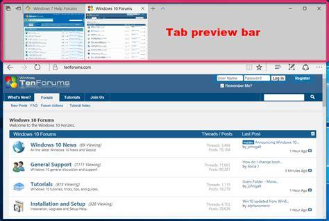 hide top bar hide or show tab preview bar in microsoft edge windows 10 tutorials
