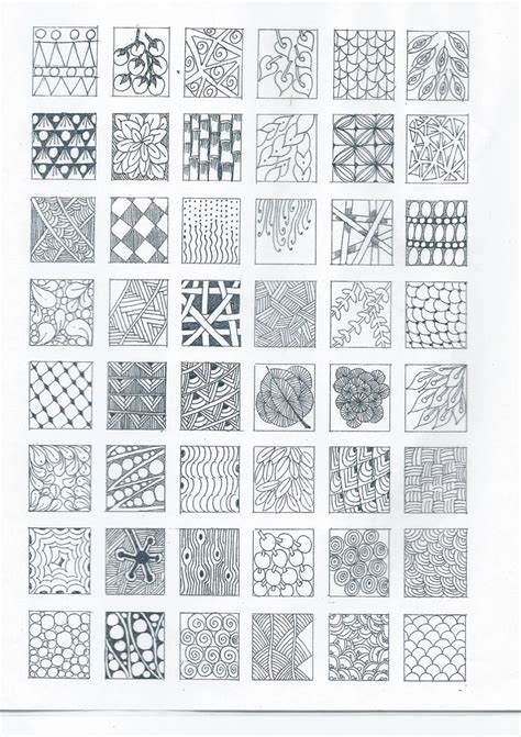 how to start drawing doodle zentangle designs start practicing each design tangle on