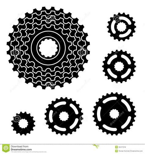 bicycle gear bike gear clipart