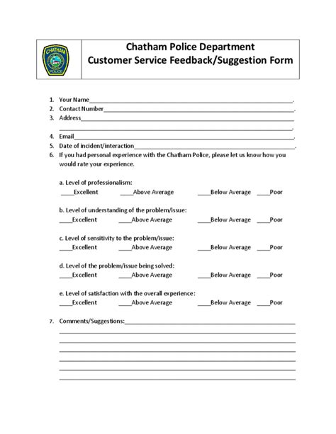 service in massachusetts service feedback form massachusetts free