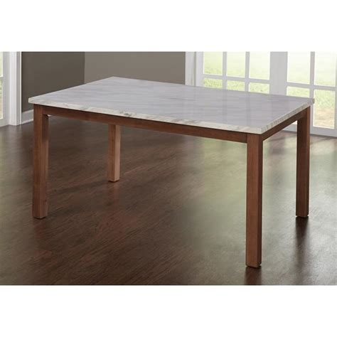 White And Brown Dining Table Simple Living Edina White And Brown Dining Table