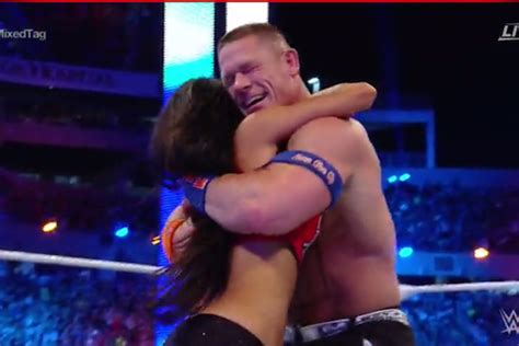 nikki bella engaged wrestlemania 33 results john cena and nikki bella defeat