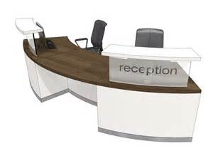 Reception Desk Curved Classic Curved Reception Desk 4