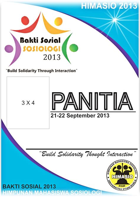 Template Id Card Panitia by Free Design Bed Panitia Baksos 2013 Himasio