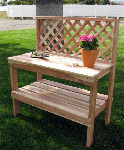 pallet potting bench diy wooden pallet potting bench pallets designs