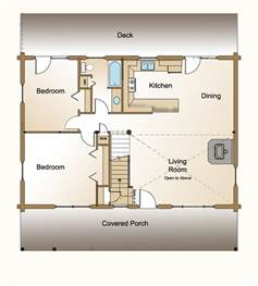 Small Homes With Open Floor Plans by 3 Bedroom Log Home Plan 171 Real Log Style