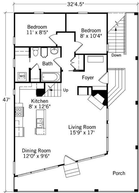 floor plans tidewater cottage coastal living