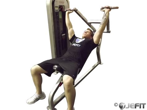 chest bench press machine machine incline chest press exercise database jefit