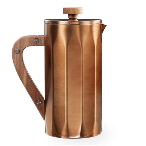 Starbucks Stainless Steel Coffee Press with Walnut Handle   Copper, 8 cup   Shop Your Way