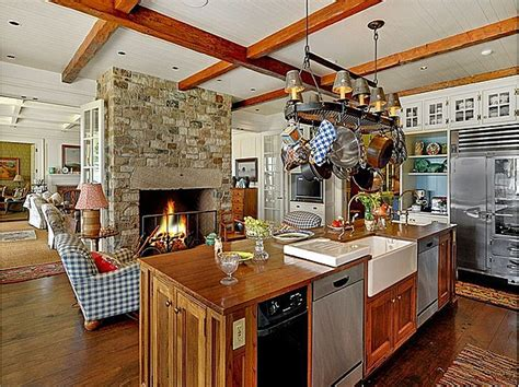 Fireplace In Kitchen by Kitchen With Fireplace Hooked On Houses