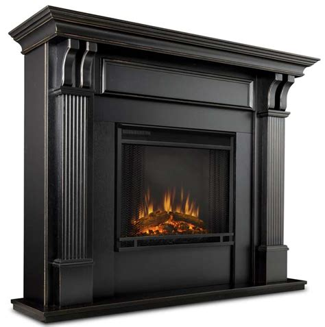 7100e worn black electric fireplace just fireplaces