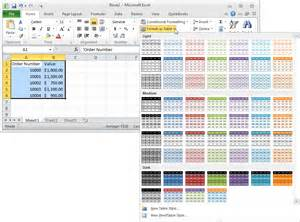 alternate row color excel ms excel 2010 automatically alternate row colors one