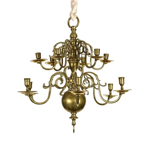 Chandelier For Small House by Two Tiered Twelve Light Brass Chandelier 19th Century