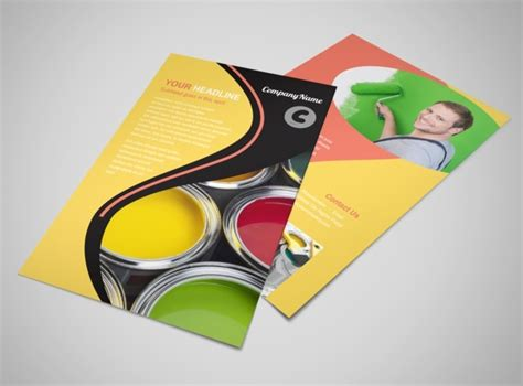 painting flyers templates free house painting contractor flyer template