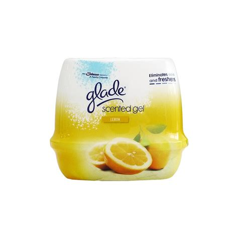 scented gel glade scented gel 180g lemon air freshener household