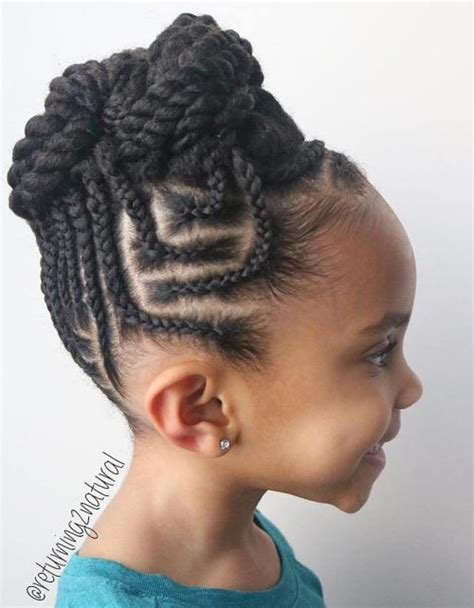 young black american women hair style corn row based braids for kids 40 splendid braid styles for girls