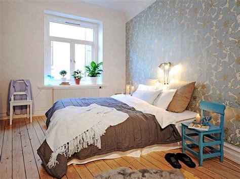 wallpaper accent wall ideas bedroom focusing on one wall in bedroom swedish idea of using