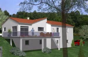 construction sur un terrain en pente maison moderne