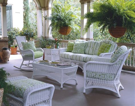 whitecraft wicker patio furniture sommerwind cottage and boca