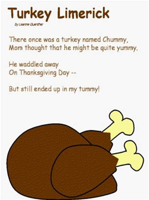 1000 images about thanksgiving limericks on pinterest
