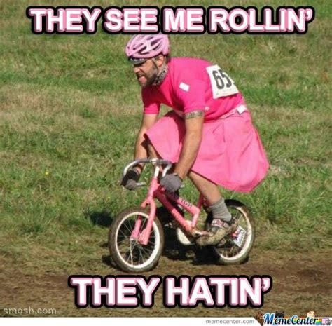 Cycling Memes - see me rollin pink bike memes best collection of funny