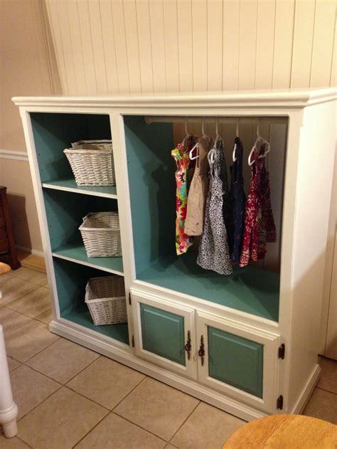 Entertainment Closet by Entertainment Center Turned Armoire